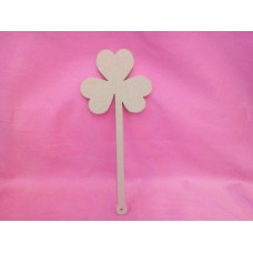 6mm MDF clover leaf wand